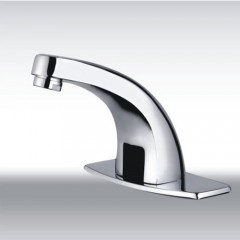 Cold Water Automatic Touchless Chrome Sensor Bathroom Sink Faucet (QH0115)