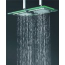 9 Inch * 18 Inch Chromed Glass Square LED Rainfall Shower Head(F-321)