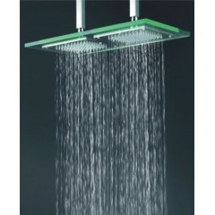 9 Inch * 18 Inch Chromed Glass Square LED Rainfall Shower Head(QH321)