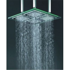 18 Inch Chromed Square LED Rainfall Glass Shower Head(QH322)