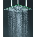18 Inch Chromed Square LED Rainfall Glass Shower Head(F-322)