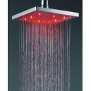 Square Chrome Brass Shower Head With Faint LED Light (F-325)