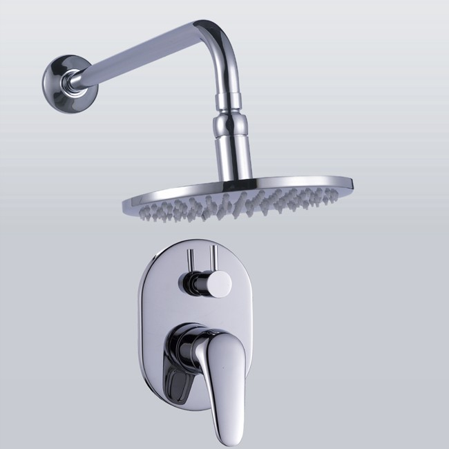 single handle rain chrome wall mount shower faucet f 343