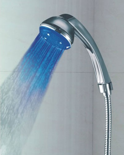 chrome led handheld shower head qh390f