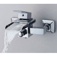 Single Handle Wall-Mount Waterfall Bathroom Sink Faucet or Bathtub Faucet (QH0510W)