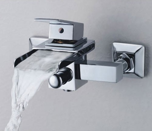 single handle wallmount waterfall bathroom sink faucet or bathtub faucet f0510w