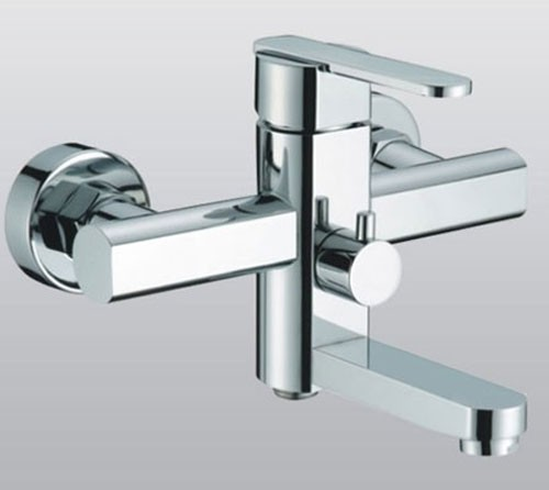 Single Handle Chrome Centerset Wall-Mount Bathroom Sink Faucet (F ...