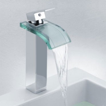 Single Handle Waterfall Bathroom Faucet : Single Handle Chrome Waterfall Bathroom Sink Faucet (F-0822H ...