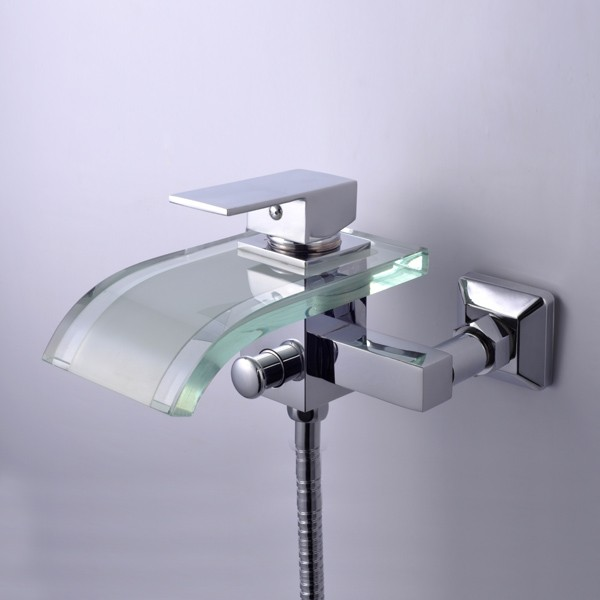 Bathtub Spigot Wall Mount Chrome Glass Bathtub Faucet F 0822W Faucets Online Shop