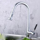 Contemporary Solid Brass Pull Down Kitchen Faucet (Chrome Finish) F0784-2