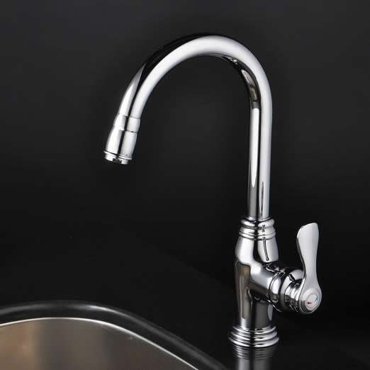 chrome single handle centerset kitchen faucet f1723
