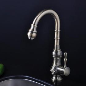 bronze single handle antique kitchen faucet f1705