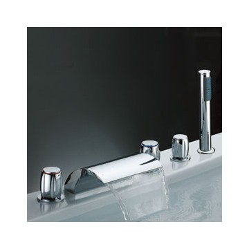 Waterfall Tub Faucet with Hand Shower (Three Handles) F7013