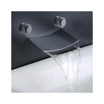 Contemporary Waterfall Bathroom Sink Faucet (Wall Mount) F7012B ...