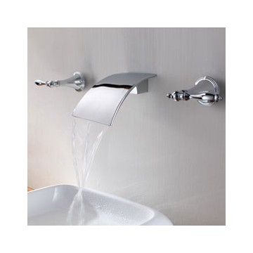 Bathroom Faucet From Wall brass waterfall bathroom sink faucet (wall mount) f7010 - faucets