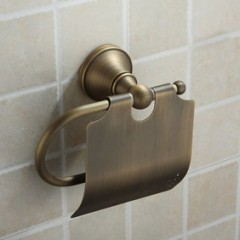 Antique Brass Wall-mounted Toilet Roll Holder AB1002