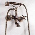 Antique Brass Finish Tub Faucet with Hand Shower F-007