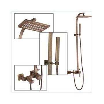 Wall Mount Antique Brass Shower Faucet Set SA-012 - Faucets Online ...