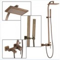 Wall Mount Antique Brass Shower Faucet Set SA-012