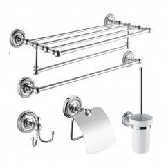 5-Piece Chrome Finish Bathroom Accessory Set