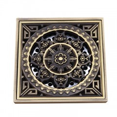 Bathroom Accessory Antique Brass Finish Solid Brass Floor Drain FD007