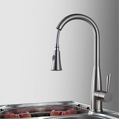 nickel brushed finish pull down kitchen faucet f0791s