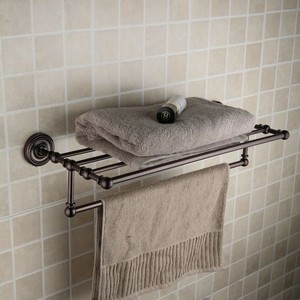 Oil Rubbed Bronze Retro Style 24 Inch Bathroom Shelf With Towel Bar Orb1004 Faucets Online Shop