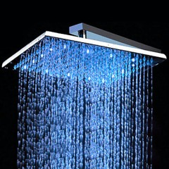 10 inch Brass Shower Head with Color Changing LED Light HB10F