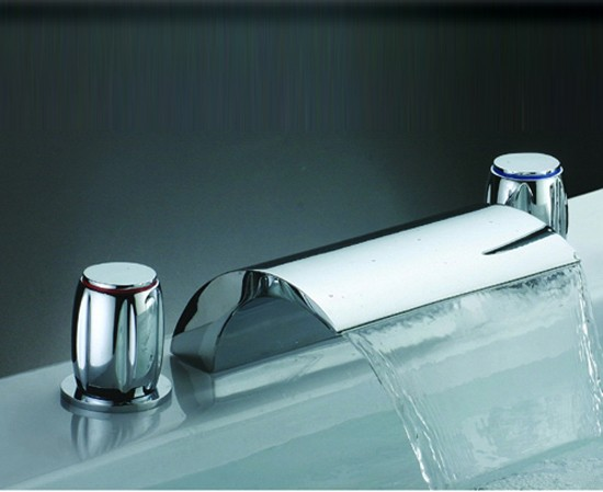 widespread waterfall bathroom sink faucet f7013b faucets online shop