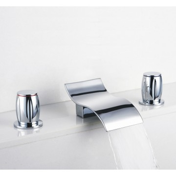 chic design waterfall bathroom faucets. Contemporary Waterfall Bathroom Sink Faucet  Chrome Finish Widespread F7709A