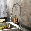 Contemporary Solid Brass Chrome Finish Single Handle Kitchen Faucet F180