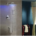 Solid Brass LED Shower Faucet with 10 inch Shower Head + Hand Shower SF011