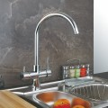 Solid Brass Kitchen Faucet with Drinking Water Function Three way faucet F3004