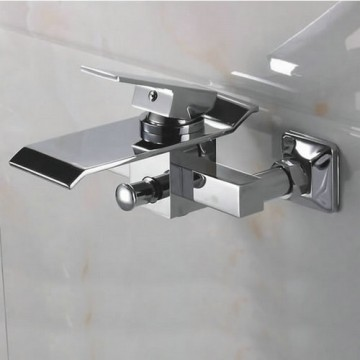 Contemporary Waterfall Brass Bathtub Faucet (Wall Mount) F-Q3002W