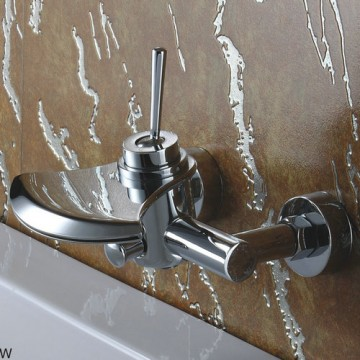 Contemporary Waterfall Tub Faucet - Wall Mount FQ3001W