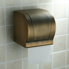 Antique Brass Finish Brass Material All Cover Style Toilet Roll Holders FAB6403
