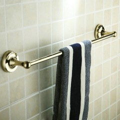 Antique Brass Ti-PVD Wall-mounted Single Towel Bar FGB6901
