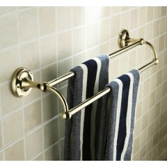 Antique Brass Ti-PVD Wall-mounted Double Towel Bar FGB6902