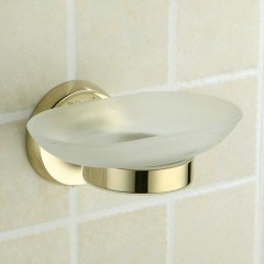 Contemporary Ti-PVD Wall Mount Soap Holder