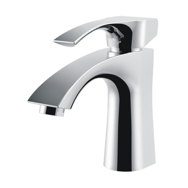 Contemporary Brass Single Handle Bathroom Sink Faucet Countertop