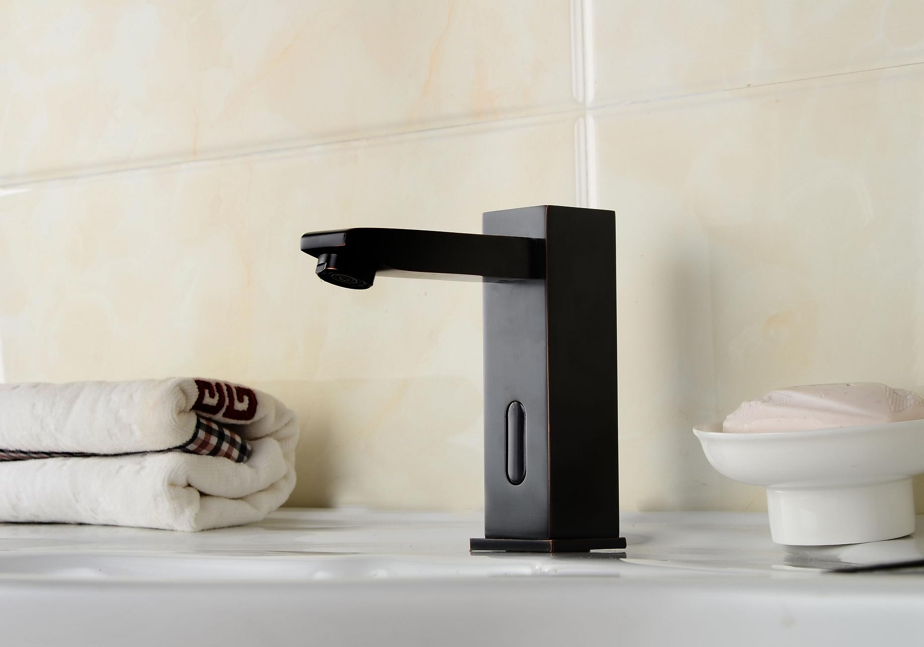 Oil Rubbed Bronze Bathroom Sink Tap With Automatic Sensor