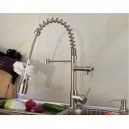 Contemporary Single Handle Nickel Brushed Pull-Out Spray LED Kitchen Faucet with 3 Color Changing  FA0783SNF