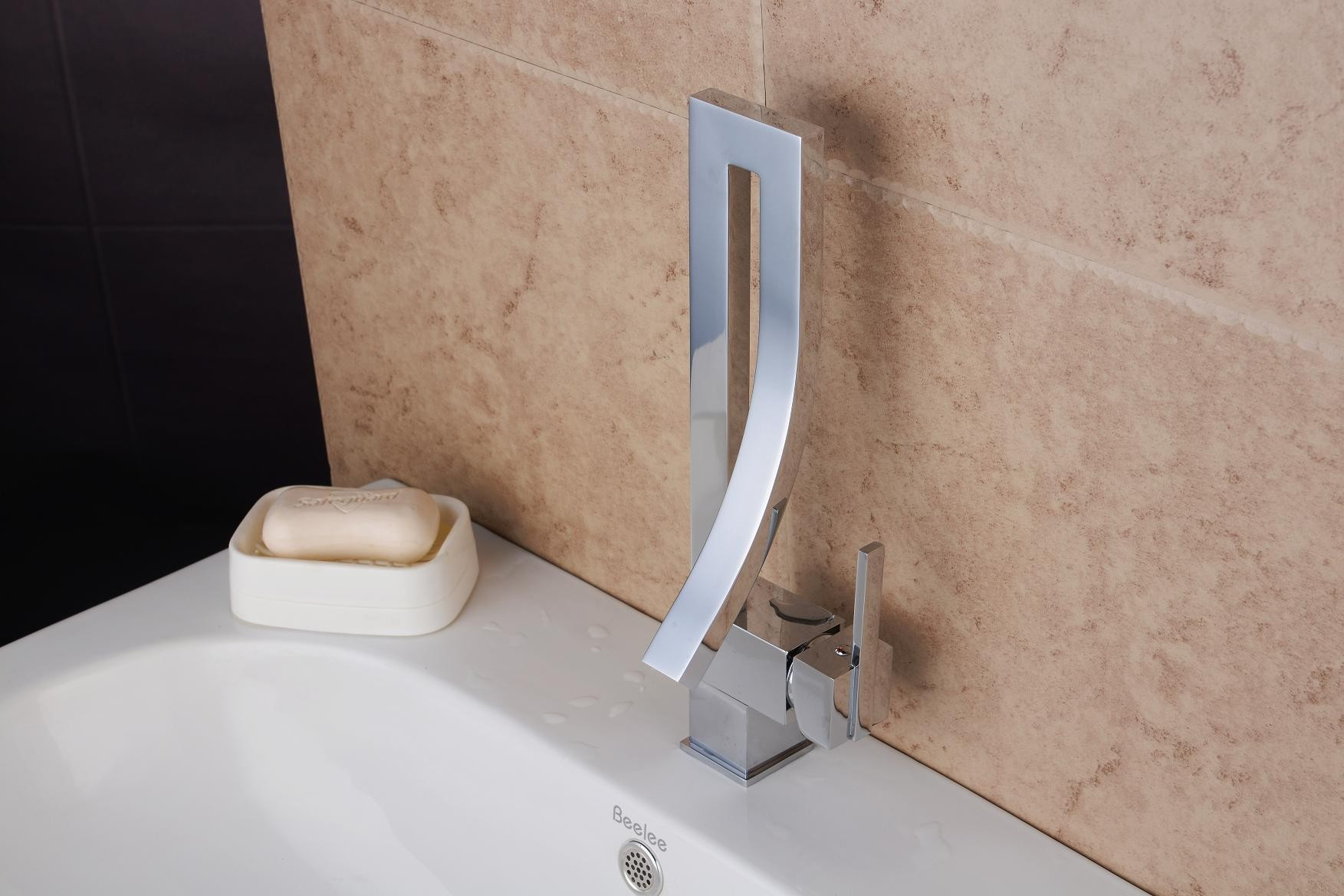 Contemporary Chrome Finish Brass One Hole Single Handle Bathroom ...