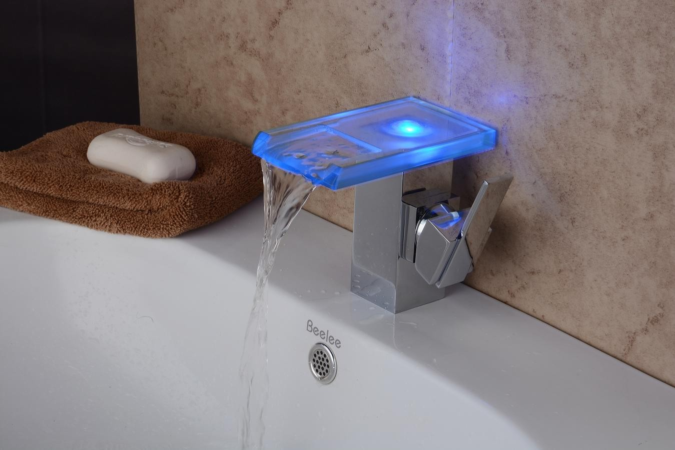 Bathroom Sink Colors : Contemporary Chrome Color Changing LED Bathroom Sink Faucet FA08186FP ...