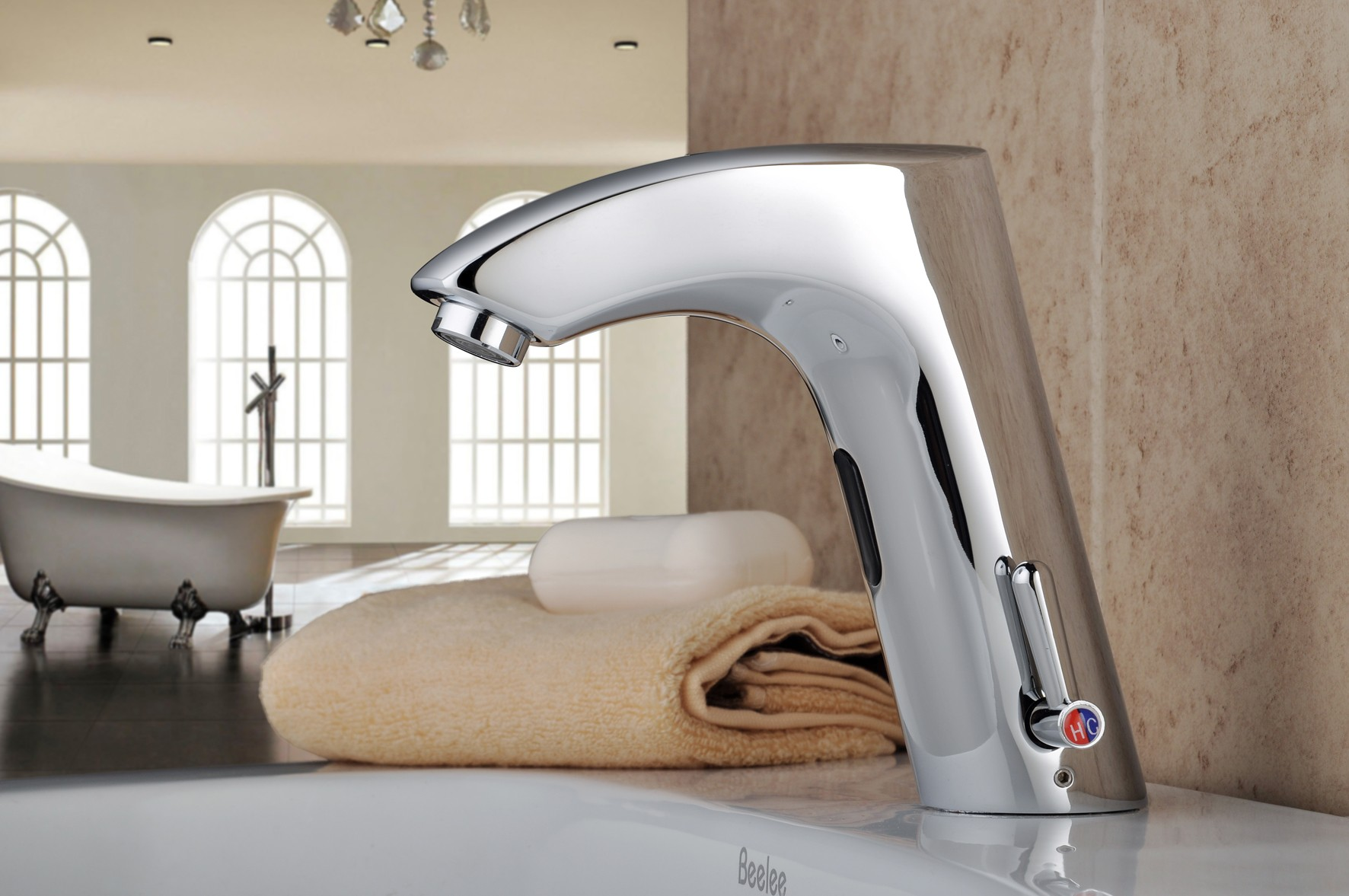 ... Chrome Finish Brass Bathroom Sink Automatic Faucet With Sensor  Activated(Hot And Cold) FA0112BA ...