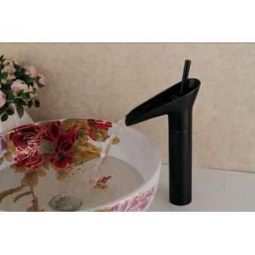 Antique Oil-rubbed Bronze Finish Waterfall Bathroom Sink Faucet FA13008HB