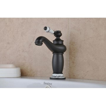 Oil-rubbed Bronze One Hole Single Handles Bathroom Sink Faucet FA14617B