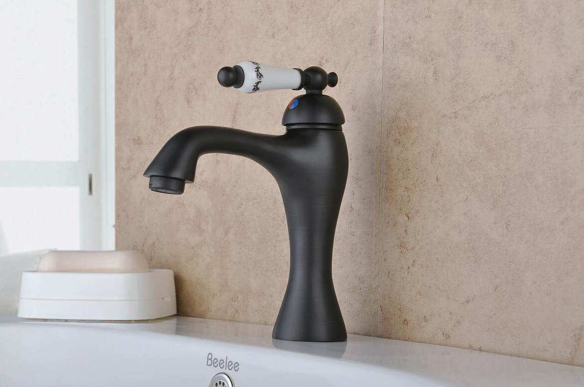 Antique Style Oil Rubbed Bronze Finish Waterfall Br Bathroom Sink Faucet Fa1809b