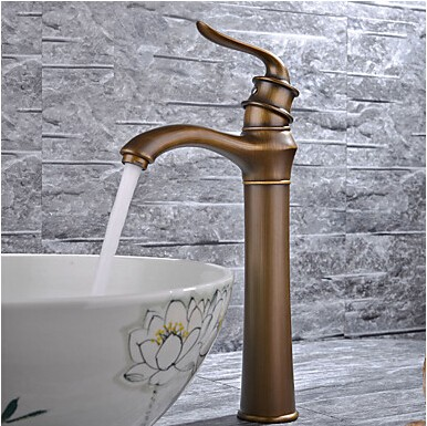 Modern Centerset Widespread With Ceramic Valve Single Handle One Hole For  Antique Copper Bathroom Sink Faucet