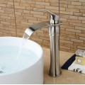 Vessel Single Handle One Hole in Nickel Brushed Bathroom Sink Faucet FA0611N